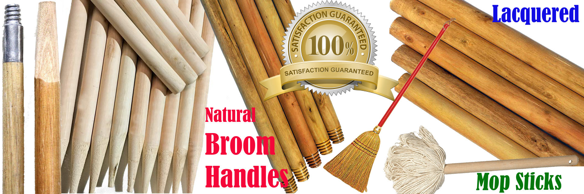 Natural sanded wooden handles factory